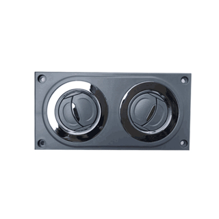 HC-B-12489-3 WIND OUTLET CHROME CIRCLE WITHOUT LIGHT