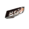 HC-B-1515-1 BUS HEADLIGHT BLACK WITH LED
