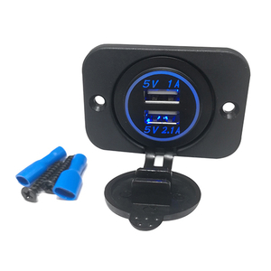 HC-B-65009 BUS USB CHARGER WITH BLUE LIGHT 12-24V
