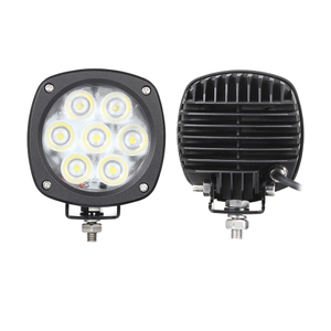HC-B-33051 Bus Light LED WORKING LAMP 35W W/PAINT BLACK SPOTLIGHT or FLOODLIGHT